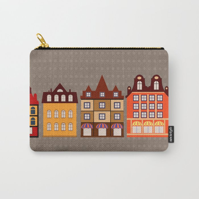 Vintage town Carry-All Pouch
