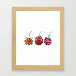 fresh fruit and cocktail rolls Framed Art Print