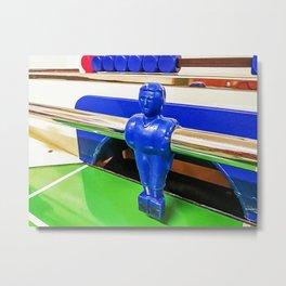 Figures of a foosball table Metal Print
