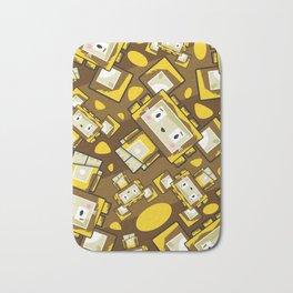 Cute Cartoon Blockimals Lion Pattern Bath Mat