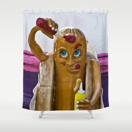 Hot Dog Dressing Up Shower Curtain