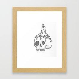 skull & candle Framed Art Print