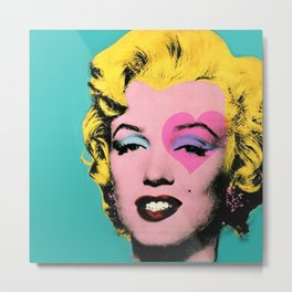 Marylin Heart Metal Print
