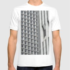 Concrete Jungle MEDIUM White Mens Fitted Tee