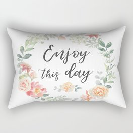 Romantic wreath Enjoy this day Rectangular Pillow
