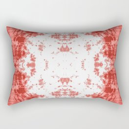 Living Coral Shibori Tye Dye Rectangular Pillow