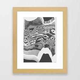 Constructivism Scan Framed Art Print