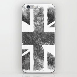Grey UK Flag iPhone Skin