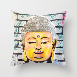 Good Karma Buddha Throw Pillow