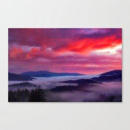 Fog Landscape Canvas Print