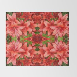 """A Gathering of Lilies"" Remix - 5 (4-1) [D4471~15] Throw Blanket"