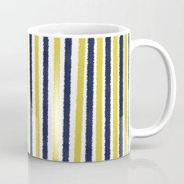 Gold & Navy Blue Stripes Coffee Mug