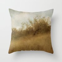 pixies Throw Pillows featuring The Magical Oak Tree by Honey Malek