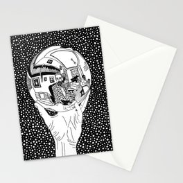 Escher - Self-portrait on a sphere Stationery Cards
