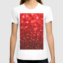Ruby Red Disco Glitter & Sparkles T-shirt