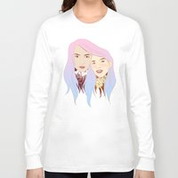 girls Long Sleeve T-shirts featuring Girls by podborski