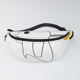 Noot Noot Pingboo A Penguin Dressed As A Ghost Halloween Love Fanny Pack