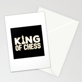 King Of Chess - Cool Chess Club Gift Stationery Cards
