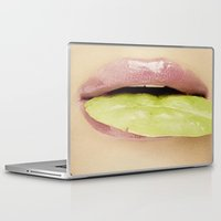 lip Laptop & iPad Skins featuring Lip Leaf by Bougiee Inc.
