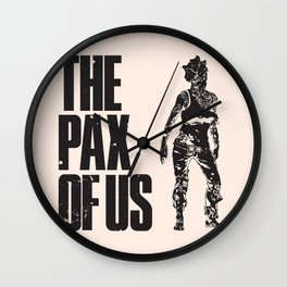 The PAX of Us Black Wall Clock