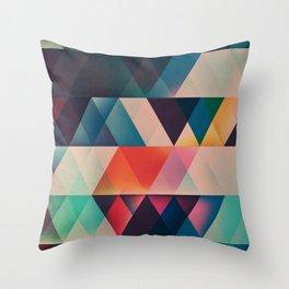 Geometric Abstract: jyst ynyff Throw Pillow