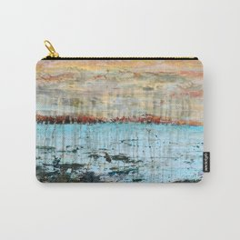 Western Lake Florida Landscape abstract mixed media Carry-All Pouch