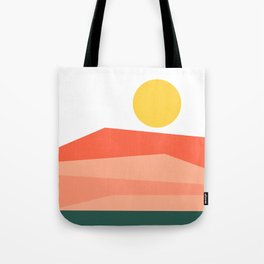 Abstract Landscape 09 Red Tote Bag