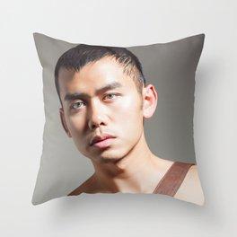 shirtless man Throw Pillow