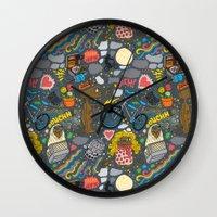 et Wall Clocks featuring ET! by Chris Piascik