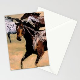 Galloping Horse Close-Up Stationery Cards