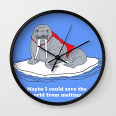 maybe i could save the world from melting Wall Clock