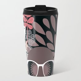 Afro Diva : Sophisticated Lady Pale Pink Peach Taupe Travel Mug