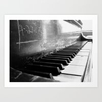 black keys Art Prints featuring Black Keys by Kylie Kotraba