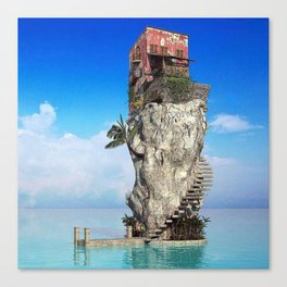 House in the middle of the sea Canvas Print