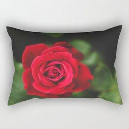 Romantic Red Rose Rectangular Pillow