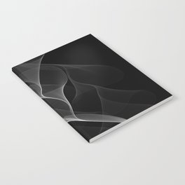 Black and White Flux #minimalist #homedecor #generativeart Notebook