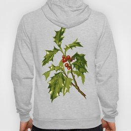 Holly Christmas Red Berry Hoody