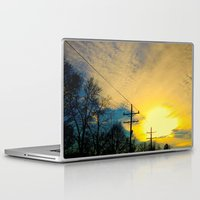 telephone Laptop & iPad Skins featuring Telephone Trees by a.rose
