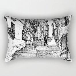 Naples Stairs Rectangular Pillow