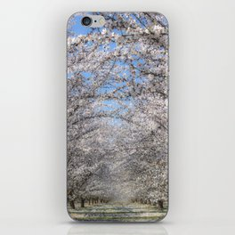 White Blossom Tree Tunnel iPhone Skin