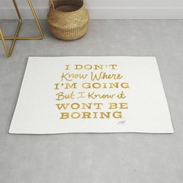 Bowie Quote - Gold Palette Rug