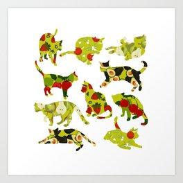 Kitchen Cats Art Print