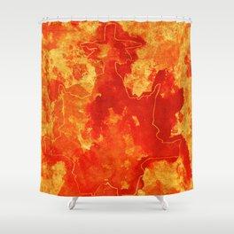 Warm blast Shower Curtain