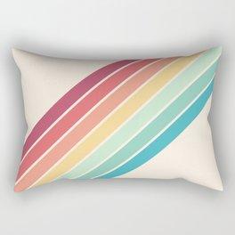 Classic 70s Style Retro Stripes - Penida Rectangular Pillow