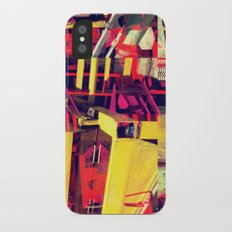 Industrial Abstract Red Slim Case iPhone X