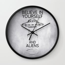 Believe in Yourself Quote Wall Clock