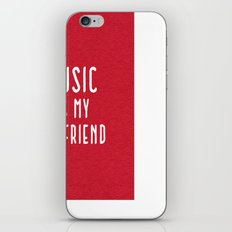 Music Is Boyfriend Quote iPhone & iPod Skin