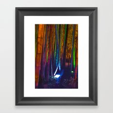 A colorful bamboo forest Framed Art Print