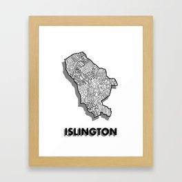 Islington - London Borough - Simple Framed Art Print