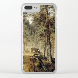Werner Holmberg Road in Häme (A Hot Summer Day) Clear iPhone Case